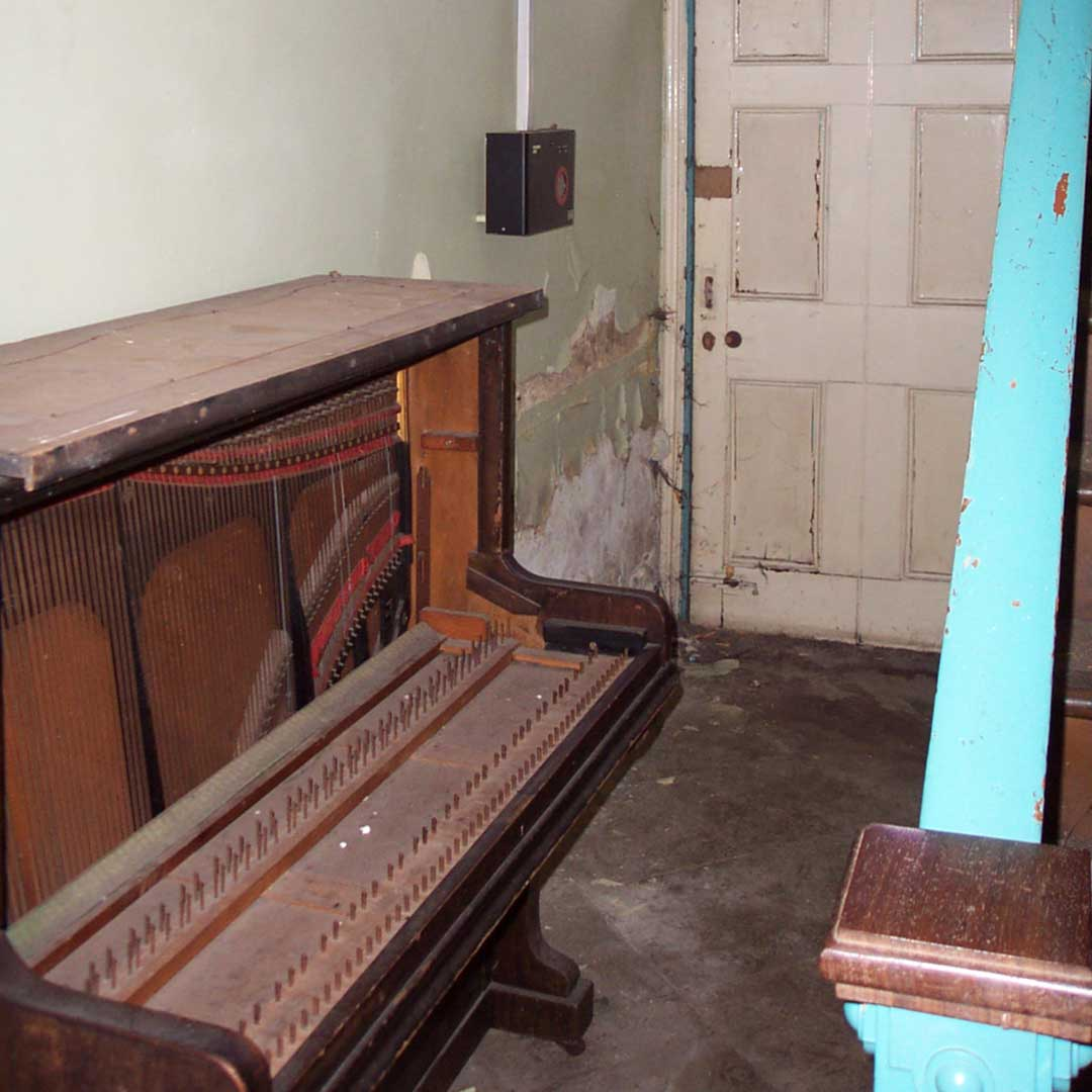 Piano In Hallway